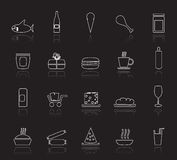 Shop and Foods Icons Royalty Free Stock Photography