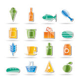 Shop and Foods Icons Stock Photo