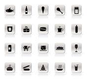 Shop and Foods Icons. Vector Icon Set Stock Images