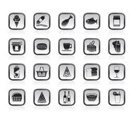 Shop and Foods Icons Stock Images