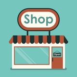The shop Royalty Free Stock Photos