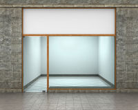 Shop Front. Exterior horizontal windows empty for your store product presentation or design Stock Photos
