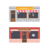 Shop front facade flat design Stock Image