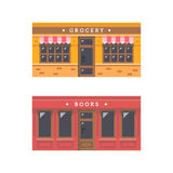 Shop front facade flat design Royalty Free Stock Photos