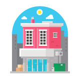 Shop front facade flat design Stock Images