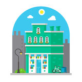 Shop front facade flat design Royalty Free Stock Image