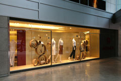 Shop Front - Orchard Road, Singapore. Fashion Shop - Orchard Road, Singapore Royalty Free Stock Photos