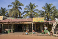 Shop in Gambia. Square with shops and bars in a resort hotel in Serrekunda, Gambia royalty free stock image