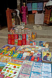 Shop at Gangtok. A vending shop with all sorts of diverse items including cottage cheese, incense sticks to even electronic gadgets at Lal Bazaar located below Stock Images