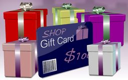 Shop gift card Stock Photos