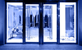 Shop glass door Royalty Free Stock Images