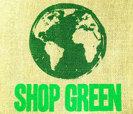 Shop green Stock Image