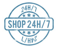 Shop 24h Stamp Stock Images
