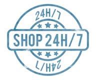Shop 24h Stamp. Green Shop 24h Stamp Background Stock Images