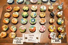 Shop of handmade pottery Italy. Italian Tuscan pottery shop siena st giminiano Royalty Free Stock Photos