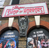 Shop of Horrors. The Dungeon Shop of Horrors sells party goods it's located next to the london bridge underground station Royalty Free Stock Image