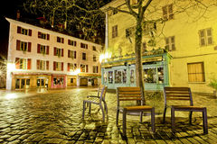 Shop and Hotel, Quay du Semnoz, Annecy, France Royalty Free Stock Images