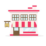 Shop house flat design vector Stock Photo