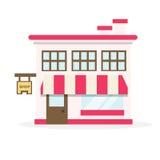 Shop house flat design vector Stock Photo