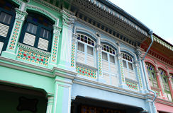Shop house in Singapore Royalty Free Stock Photos