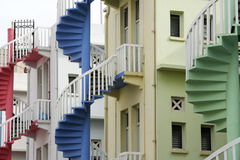 Shop house staircases singapore Stock Photography