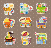 Shop house stickers stock illustration