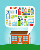 Shop with household chemicals Royalty Free Stock Image