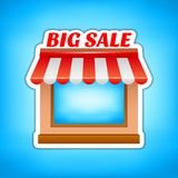 Shop icon. Big sale, vector illustration Royalty Free Stock Images