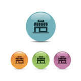 Shop icon on buttons Royalty Free Stock Photo