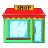 Shop icon, flat style Stock Photos