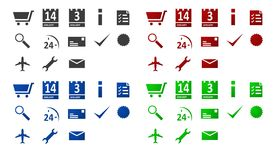 Shop icon set Royalty Free Stock Photos