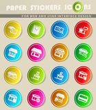 Shop icon set. Shop  icons for user interface design Royalty Free Stock Photography