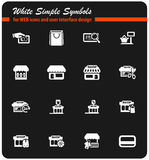 Shop icon set. Shop  icons for user interface design Royalty Free Stock Image