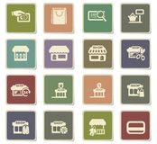 Shop icon set. Shop  icons for user interface design Stock Photos