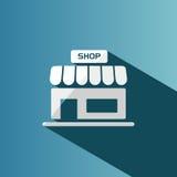 Shop icon with shadow Stock Photos