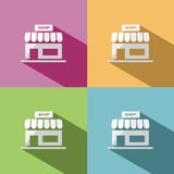 Shop icon with shadow Stock Photo