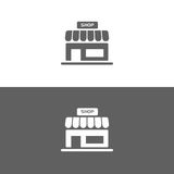 Shop icon on white and dark backgrounds. Isolated shop icon on white and dark backgrounds vector illustration