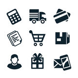 Shop icons Stock Photography