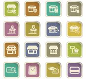 Shop icons set. Shop icon set for web sites and user interface Royalty Free Stock Photo