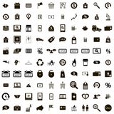 100 Shop icons set. Isolated on white background vector illustration