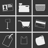 Shop Icons. Set of icons on a thme shop Stock Photography