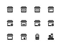 Shop icons on white background. Vector illustration Royalty Free Stock Photo