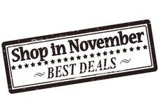 Shop im November Stockfotos
