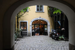 Shop in an inner courtyard Stock Images