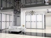 Shop interior. The modern shop interior design project (3D image Stock Image