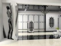 Shop interior. The modern shop interior design project (3D image Stock Images