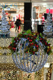 Shop Interior with Christmas decorations, detail Stock Photos