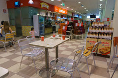 Shop interior. Gas station store interior in Italy. Photo taken on: Septembre 12, 2015 stock images