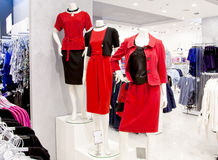 Shop interior with mannequins Royalty Free Stock Photo