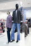 Shop interior with mannequins Royalty Free Stock Images